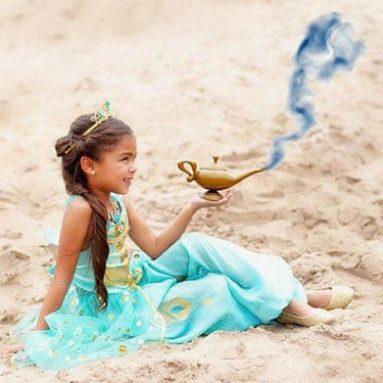 Kids Aquamarine Disney Princes Jasmine Costume