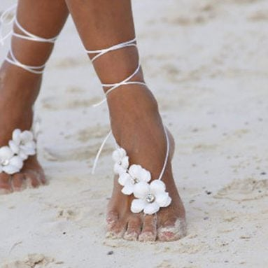 30 Gorgeous Barefoot Beach Wedding Sandals For Brides & Bridesmaids