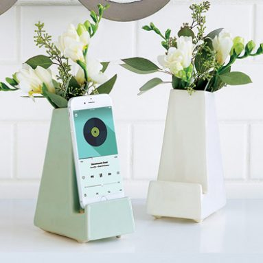 Bedside Smartphone Vase