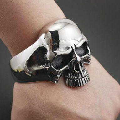 Heavy Skull Bracelet Cuff