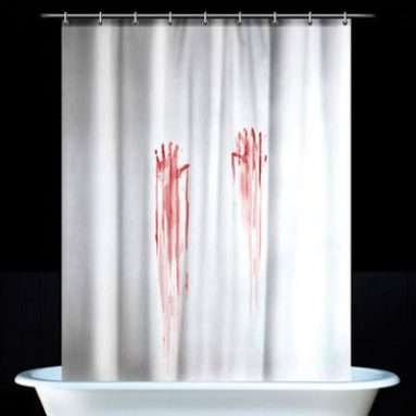 Bloody Handprint Shower Curtain