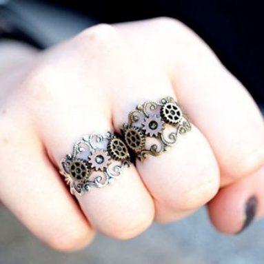 Cog & Gears Steampunk Rings