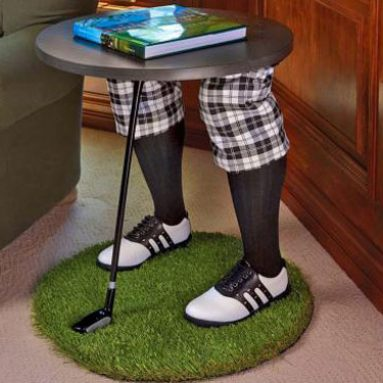 Creepy Golfing Legs Side Table