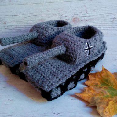 Crochet Tank Slippers