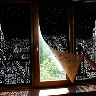 Cutout Blackout Skyline Curtains