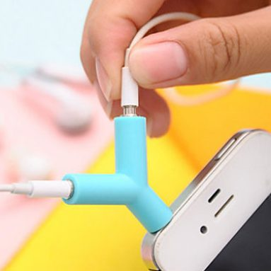 Earphone Sharing Plug Key Rings