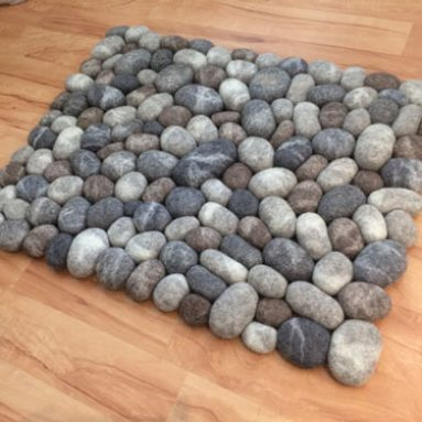 Felt Stone Pebble Rugs