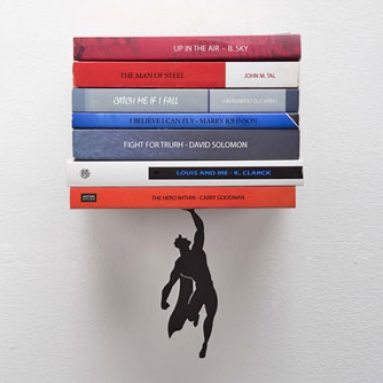 Floating Super Hero BookShelf