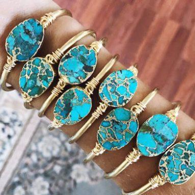Genuine Turquoise Cuff Bracelets