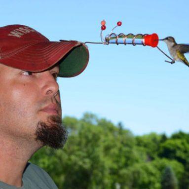 Hummingbird Hat Feeders
