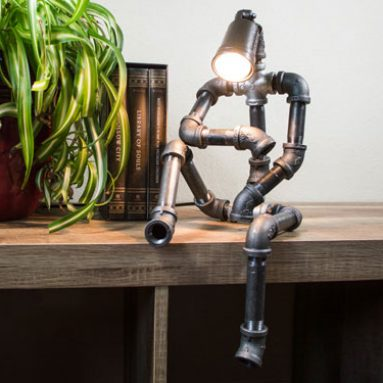 Industrial Sitting robot lamp