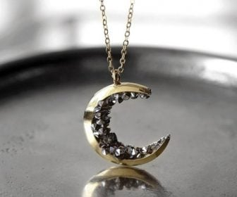 Inspirational Crystal Crescent Moon Necklace