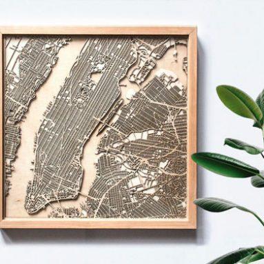 Laser Cut City Maps