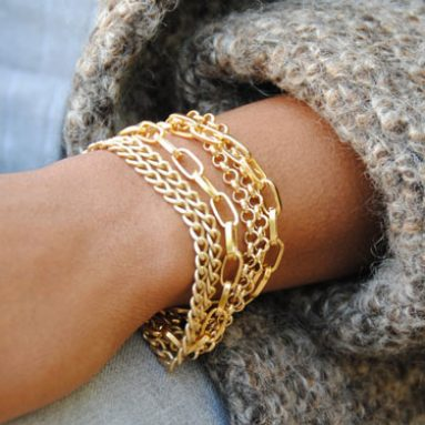 Multi Strand Chain Bracelet