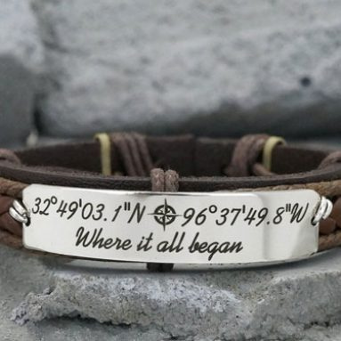Personalized Quote Coordinate Bracelets