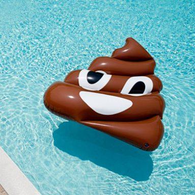 Poop Emoji Pool Float
