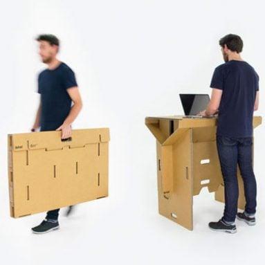 Portable Fold-Up Cardboard Desk