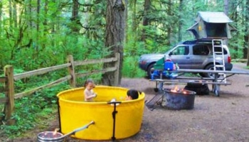 Portable Propane-Heated Hot Tub