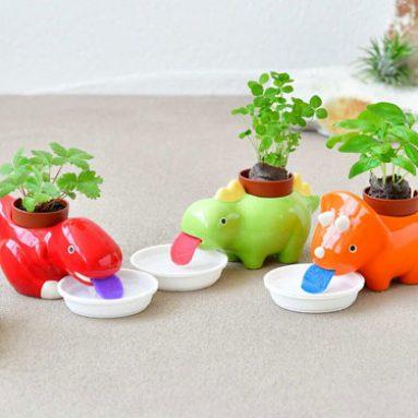 Self-Watering Dinosaur Planters