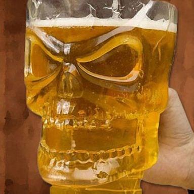 Skull Shaped Beer Pitcher