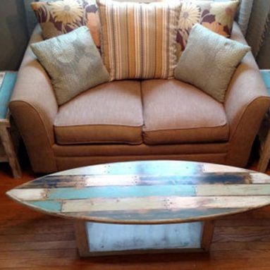 15 Cool Surfboard Coffee Tables That Are Totally Rad