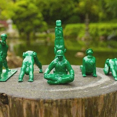 Yoga Pose Green Army Men