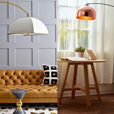 27 Best Arc Floor Lamps for a Stylish Modern Living Room