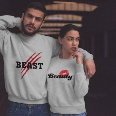 27 Cute Matching Couples Sweatshirts For Couples in Love!