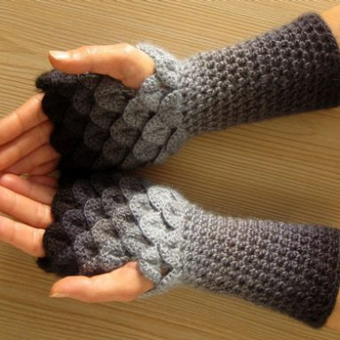 Winter Dragon Mitten Gloves