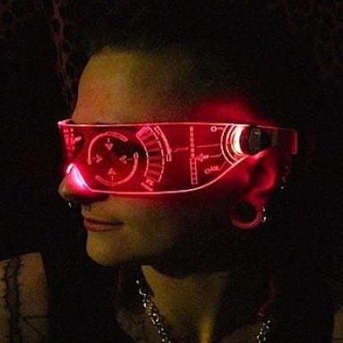 illuminated Cyber Visors