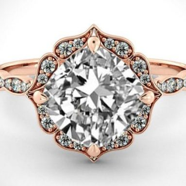 31 Unique Rose Gold Engagement Rings & Ring Sets