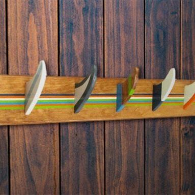 Surfboard Fin Coat Rack